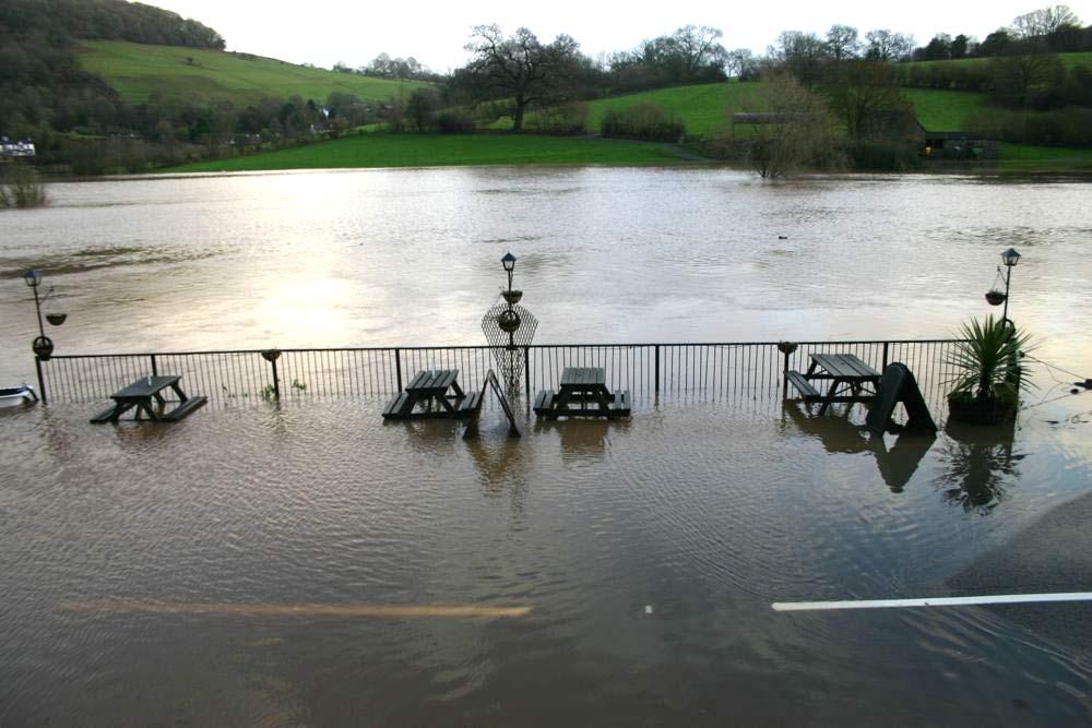 image showing Tintern flooding January 2014